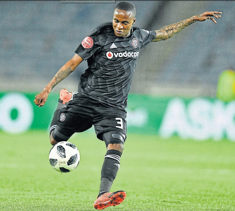 Chasing silver: Orlando Pirates midfielder Thembinkosi Lorch says the Buccaneers will have respect for Baroka when they meet in the Telkom Knockout final. Picture: LEFTY SHIVAMBU/GALLO IMAGES