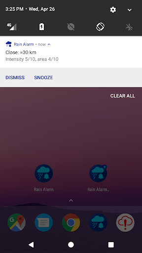 Rain Alarm screenshot