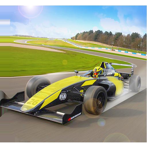 Fast Formula Car On Racing Track Game