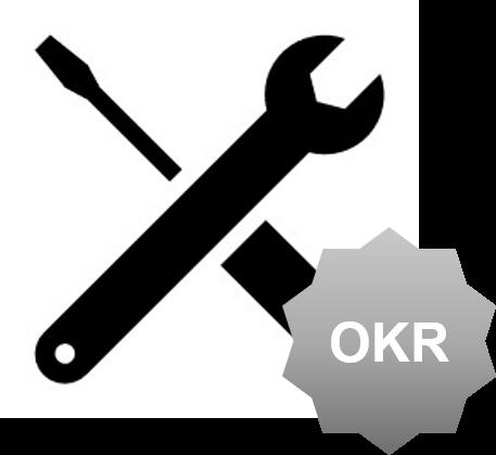 Icon Werkzeug mit OKR Banner