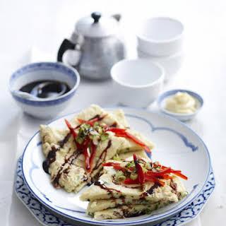 Okonomiyaki (Japanese Savory Pancakes).