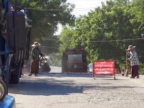 Photo: Road works in Old Bagan