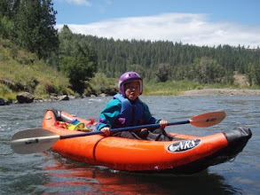 Photo: Kenya on the Truckee River.