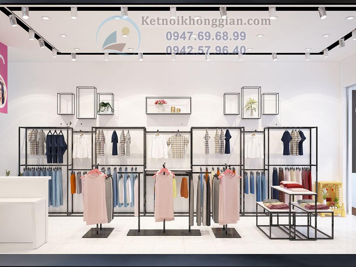 thiết kế shop thời trang công sở hiện đại
