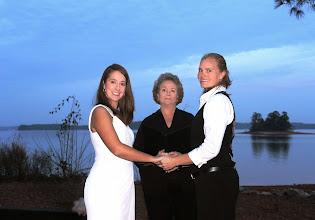 Photo: Same Sex LGBT Wedding Ceremony Anderson, SC Lake Hartwell http://WeddingWoman.net
