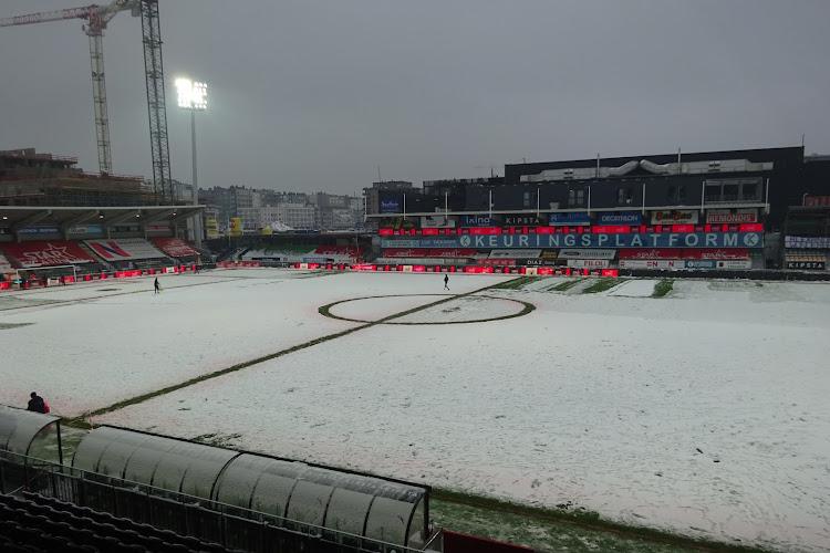 La neige est arrivée à la côté belge mais Ostende-Courtrai devrait avoir lieu