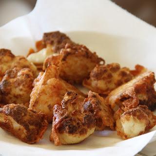 Parmesan Battered Fried Cauliflower.