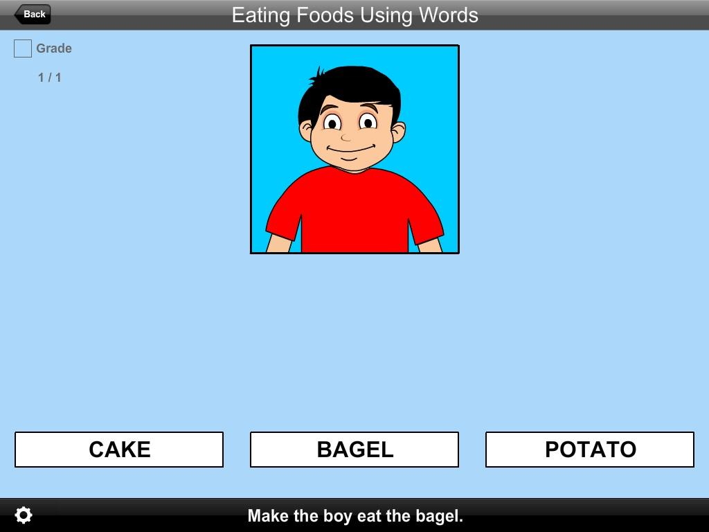 Eating Foods Using Words Lite Version- screenshot