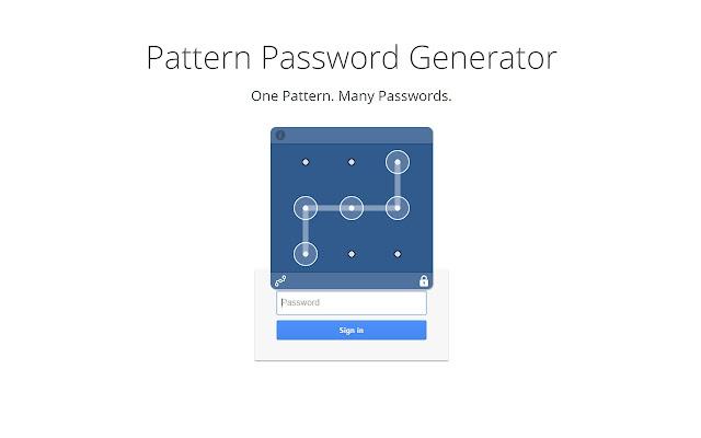 PPGen - Pattern Password Generator