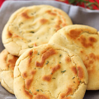 Gluten Free Rosemary and Garlic Flatbread.