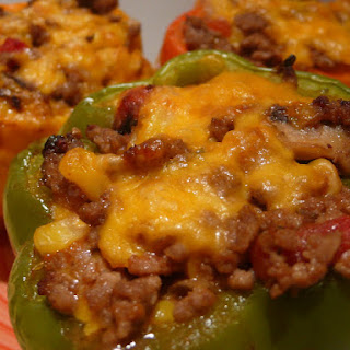 Stuff it! Low Carb Cheesey Stuffed Peppers.