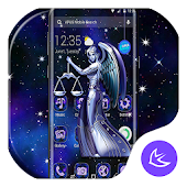 Blue Shine Libra APUS Launcher Theme Android APK Download Free By Cool Theme Team