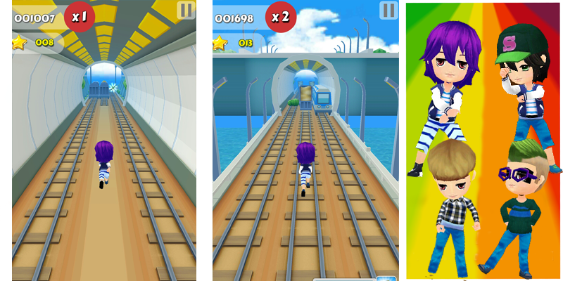 Ninia Subway Surf ball 4 - screenshot