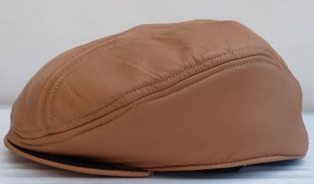 BB Läderkeps beige