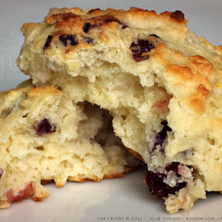 Lemon Cranberry Yogurt Drop Scones
