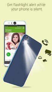 Blesk na volání a SMS - náhled