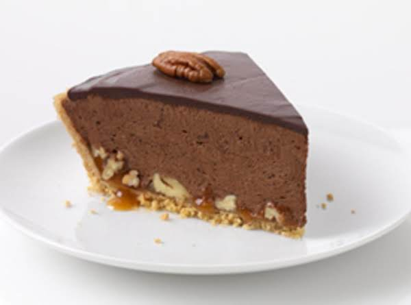 Turtle Pie With Chocolate Glaze