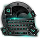 Black Keyboard Theme with Emoji Android apk