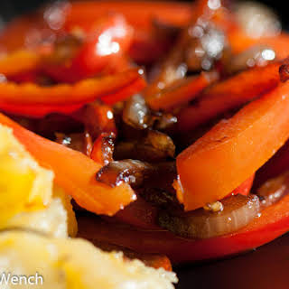 Red Peppers, Onions and Balsamic.