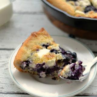 Blueberry & Cream Skillet Cobbler