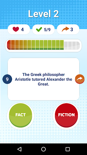 Fact Or Fiction - Knowledge Quiz Game Free screenshots 2