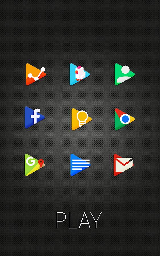PLAY - Icon Pack- tangkapan layar