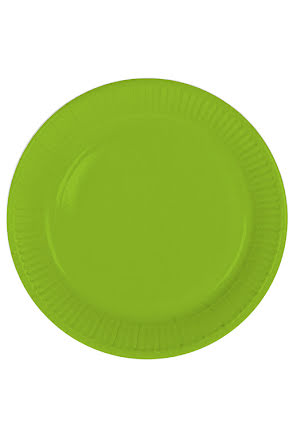 Tallrik, grön, 8st.