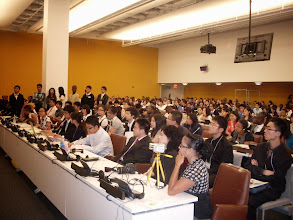 Photo: Cross sections at the 7th annual YA at the United Nations working together to make MDG a reality by 2015