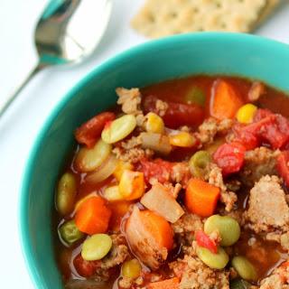 Slow Cooker Turkey Vegetable Soup.