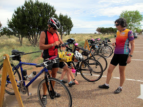 Photo: First rest stop at the Petrified Forest National Park