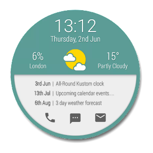 All-Round Kustom Clock Widget