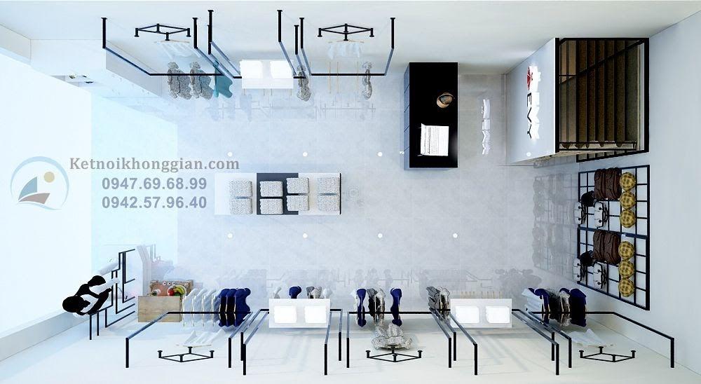 thiết kế cửa hàng thời trang công sở đẹp
