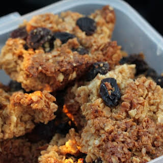 Spiced Ginger and Raisin Flapjacks.