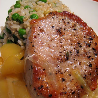 Not Peter Brady's Pork Chops & Apples with Leeks