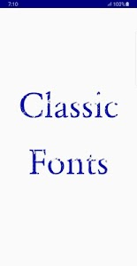 Classic Font Style 1.2.3