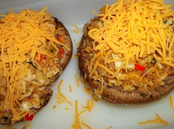 Sprinkle each with remaining cheddar cheese and place in a greased baking dish, large...