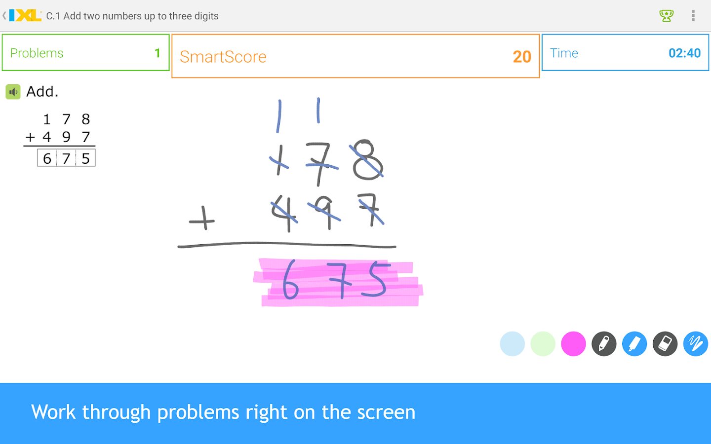 IXL Math Practice- screenshot