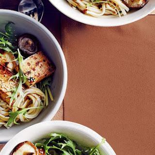 Udon Noodle Salad With Teriyaki Tofu.