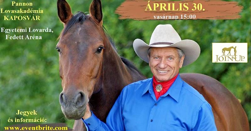 Monty Roberts (a lovakkal suttogó) előadása a Lovasakadémián 2017.04.30