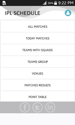 IPL Schedule 2016