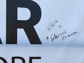 <p> June 23 2021 &quot;White is a racist remark&quot;</p>