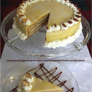 German Hazelnut Torte.