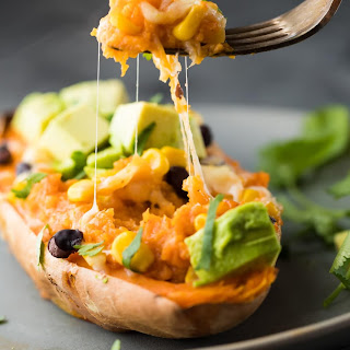 Freezer to Oven Enchilada Stuffed Sweet Potatoes Recipe