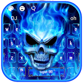 Tải Game Blue Fire Flaming Skull Keyboard