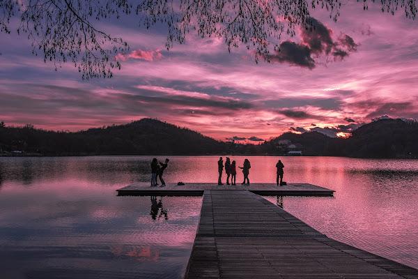 Tramonto sul lago Sirio di ivan_castagna