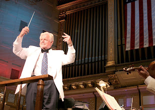 Photo: Ted Kennedy conducts the BSO (or Boston Pops, can't recall which)
