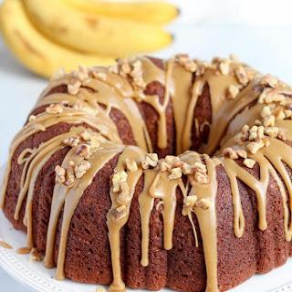 Banana Bundt Cake with Brown Sugar Glaze.