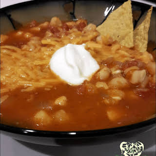 Hominy Chicken Tortilla Soup.