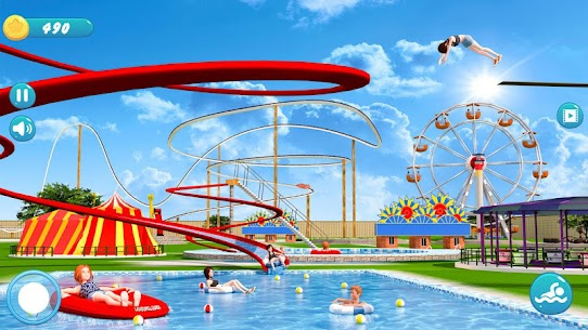 Water Park Racing Kids Aqua Park Water Slide Games 1