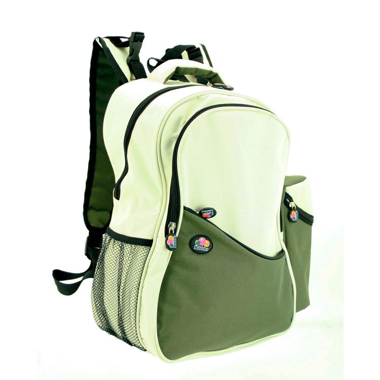 Bubbles Aiden Green/Cream Diaper Backpack by GREEN WHEEL INTERNATIONAL SDN BHD